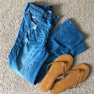 Hollister Crop High Waist Skinny Jeans